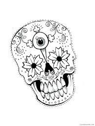 sugar skull coloring pages sugar