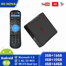 Magicsee N5 NOVA Android TV BOX RK3318 Quad Core 4G 32G/64G Rom 2.4G/5G  Dual WiFi BT4.0 Smart tv 4K Android9.0 Set Top Box|Set-top Boxes