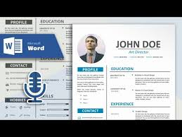 Create Professional Cv How To Create A Simple And Professional Resume In Microsoft Word Cv Design Tutorial With Vocal