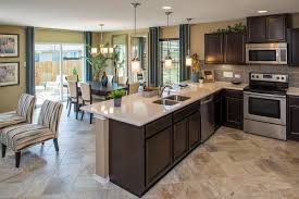 Kitchen Home Love The Tile Floors And The Dark Cabinets Kitchen Dining Living