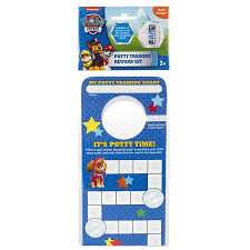 Nickelodeon Paw Patrol Potty Training Reward Kit Door Hang Version