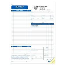 Auto Body Estimate Form Template Shop Forms – Ilford
