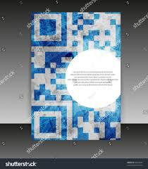 Design Folder Cover Flyer Cover Design Folder Design Content Stock Vector