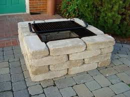 Patio Ideas With Square Fire Pit Fire Pit Ideas For Patio Square
