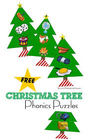 Kindergarten phonics worksheets will help grow your child's reading skills with fun and memorable pictures and stories. Free Christmas Phonics Trees Beginning Sounds Puzzles