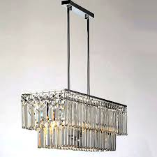 modern oblong k9 crystal chandelier 10170