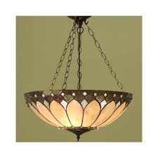 63976 brooklyn 3 light large inverted tiffany ceiling pendant
