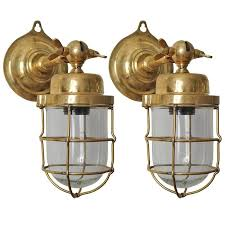 pair of ship s nautical brass passageway wall lights or pendants for