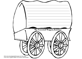 black and white covered wagon. covered wagon journal activity printable for little house on the prairie black and white