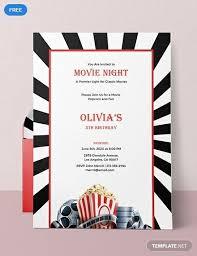 Free Movie Night Flyer Templates Cool Movie Invitation Templates Ideas Mericahotel