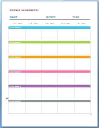Homework Calendar Templates Simple Monthly Homework Calendar Printable Assignment Template Weekly