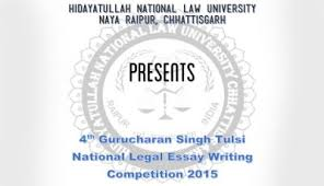 hnlu raipur students launch project saheli for manufacture of  4th hnlu gurcharan singh tulsi essay competition 2015 results