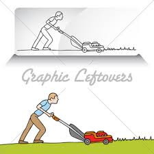 mowing lawn clipart. man mowing lawn clipart