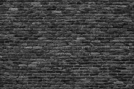 Gloomy Background Black Brick Wall Of Dark Stone Texture Stock