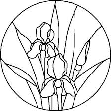 easy stained glass patterns stained glass images free free stained glass patterns iris round panel free easy stained glass patterns