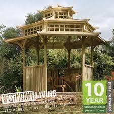Thai Gazebo Designs New 13x11ft Garden Wooden Oriental Japanese Pagoda Pergola