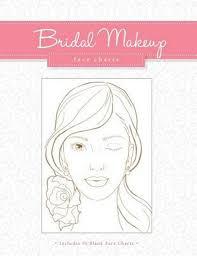 bridal makeup face charts