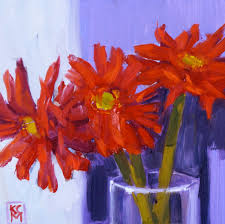here s a second take on those red gerbera daisies i couldn t figure out why they were so stiff looking and i realized i put them in the vase with the