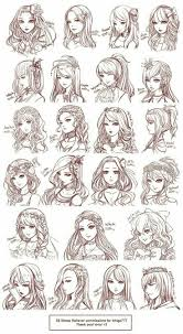 Manga Ideas Drawing Cartoon Hair Best 25 Anime Hairstyles Ideas On Pinterest