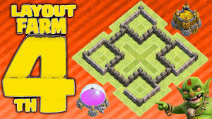 Clash Of Clans Melhor Layout De Farm Cv4 Replays 2015 Town