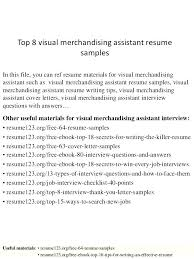 Grain Merchandiser Sample Resume Magnificent Visual Merchandising Resume Visual Merchandiser Resumes Visual