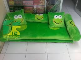 sofa lipat. karpet sofa lipat bulu rasfur karakter keropi p