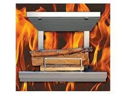 arth s flame hybrid clean burn wood fireplace system including natural gas log lighter