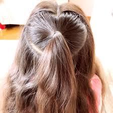 時間がないときのハートヘアアレンジ 女の子のママ必見子供のヘア