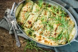 Cannelloni al salmone con pesto di aglio orsino - Ricette