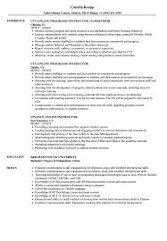 Resume Online Online Instructor Resume Samples Velvet Jobs 96