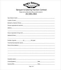 Catering Contract Agreement Stunning 48 Contract Templates For Catering Free PDF DOC Format Download