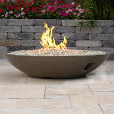 gas fire bowl. Wonderful Fire Lakeview Outdoor Designs GFRC 48Inch Natural Gas Fire Bowl  Gray   Ultimate Patio Intended