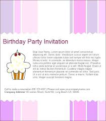 Birthday Party Invitation Template Word Free Invitations For Birthday Party Templates Free Printable Birthday