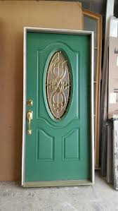 fiberglass door in frame inv usd80 fiberglass door size 36 x 80 x 1 3 4 in a 4 9 16 frame unit dimension 37 1 2 x 82 with oval glass comes