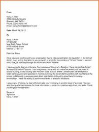 Gallery Of Cover Letter For School Nurse