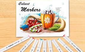 Caliart Markers 100 Color Chart Caliart 100 Colors Artist Alcohol Markers Dual Tip Art Markers Twin Sketch Markers Pens Permanent Alcohol Based Markers With Case For Adult Kids