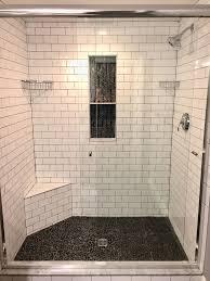best 25 pebble shower floor ideas on grey tile for designs 19