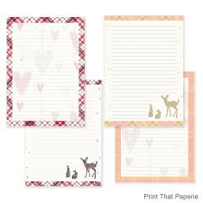 Note Paper Template Fascinating Tartan Writing Paper Stationary Paper Letter Writing Set Etsy