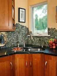 Astonishing River Rock Backsplash On Decoration Ideas With Kitchen Q  Adhesive Wallpaper Stainless Steel Glass Tile Design How To Install  Alternatives Subway ...