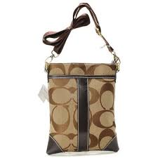 Coach Legacy Swingpack In Signature Small Khaki Crossbody BagsAV