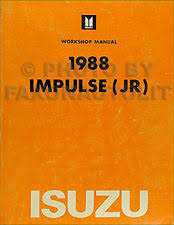 isuzu impulse manuals literature 1988 isuzu impulse original shop manual 88 repair service oem includes turbo