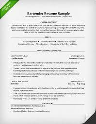 Bartender Resume Example Popular Bartender Resume Templates Free