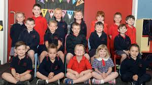 big steps little feet the courier haddon primary school from back left ivy jaxson lachlan thomas