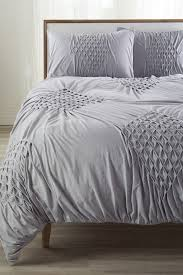 image of nordstrom at home smocked diamond jersey queen duvet grey heather