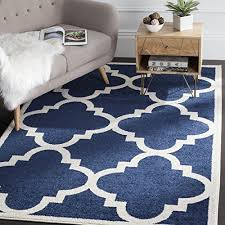 navy and white outdoor rug safavieh amherst collection amt423p navy and beige indooroutdoor area rug 9