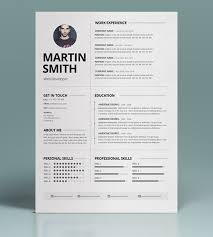Minimalist Resume Template 50 Best Minimal Resume Templates Design Graphic  Design Junction Ideas