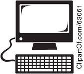 computer clipart black and white. Plain And Computer20clipart20black20and20white With Computer Clipart Black And White M