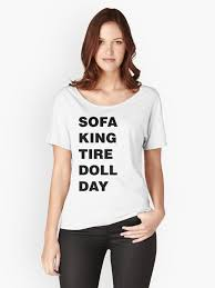 sofa king tired. Sofa King Tired Women\u0027s Relaxed Fit T-Shirt Front