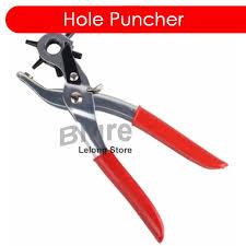 hole puncher plier for leather belt watch rubber cardboard plastic