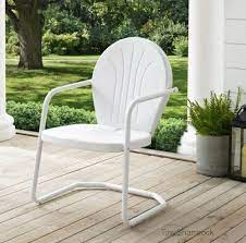 retro style metal lawn chair outdoor